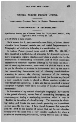 El Teléfono, la patente de Bell