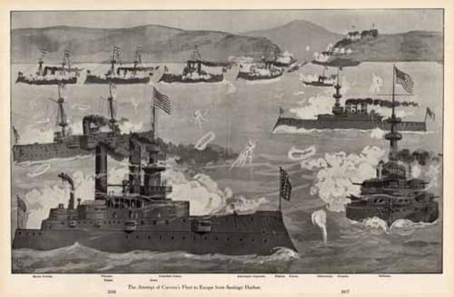 Spanish-American War- Santiago escape