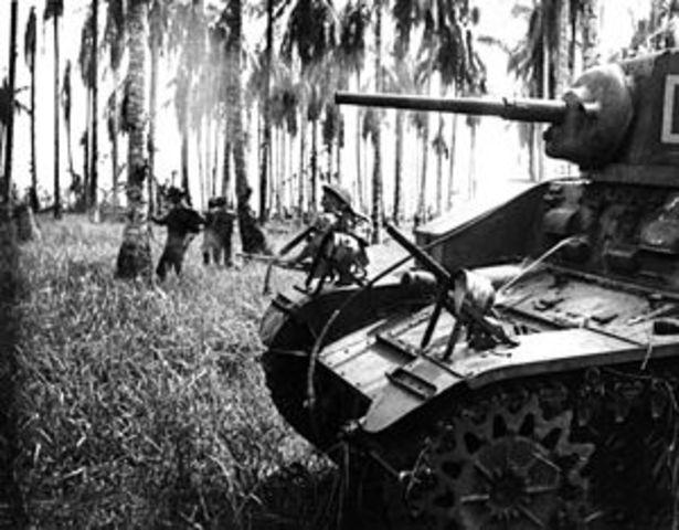 Japan invades New Guinea