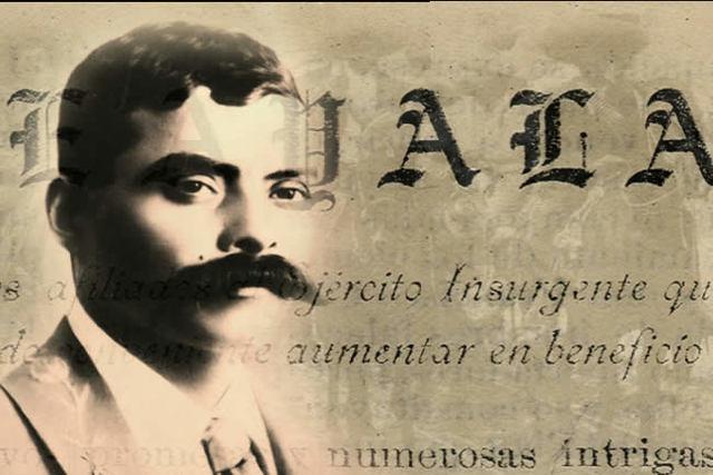Zapata modifica el Plan de Ayala