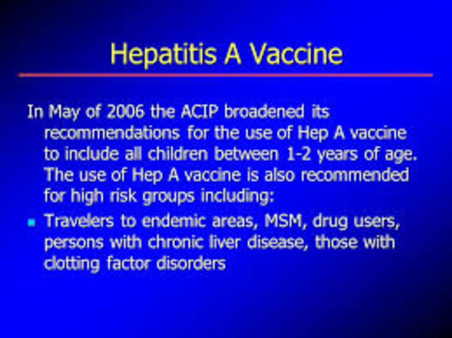 Heppatitis A Vaccine Reccomended For All Children