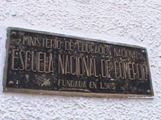 ESCUELA NACIONAL DE COMERCIO DECRETO 140 DE 1905