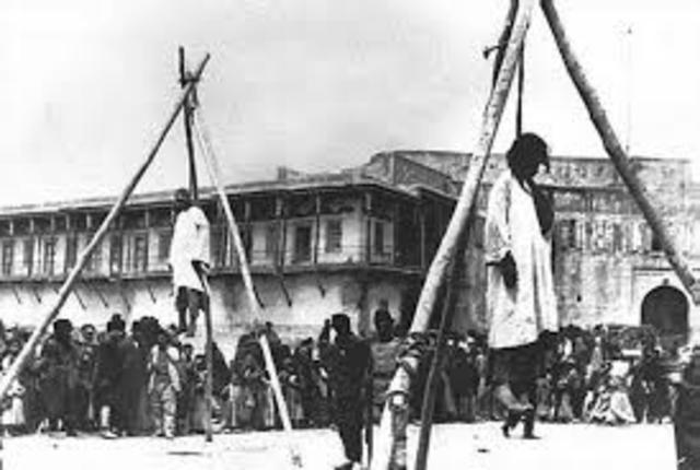 The first official phase of the Armenian massacres begin