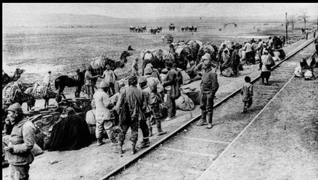 The Ottoman Empire surrenders and the Three Pashas flee