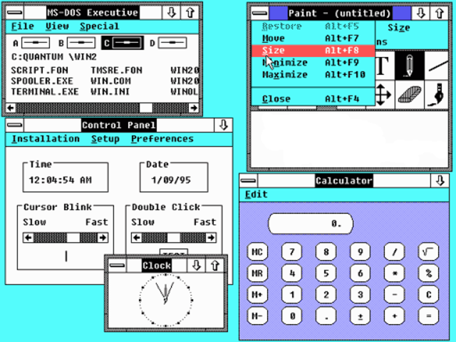 Microsoft Windows 2.0 is released to manufacturing.
