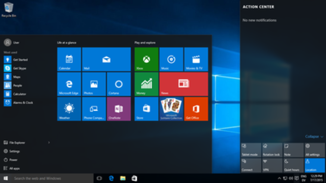 Microsoft Windows 10 operating system is released to the general public.