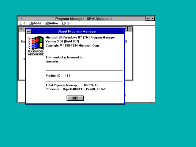 Microsoft Windows NT 3.5 operating system is released to the general public.