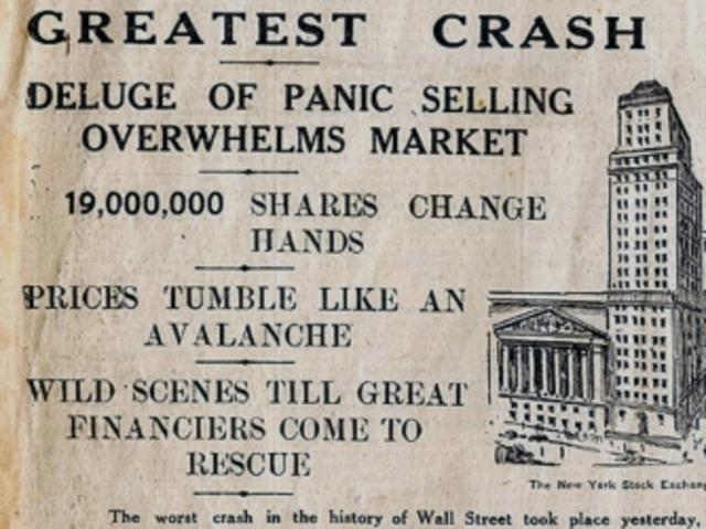 Stock market crashes.