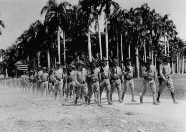 The United States Marine Corps leaves Haiti.