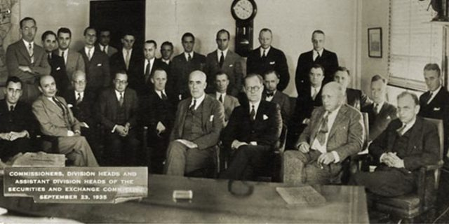 The U.S. Securities and Exchange Commission formed.
