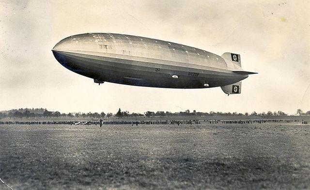 First flight of Hindenburg.