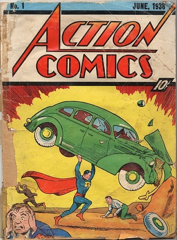 Superman 1st appears in DC Comics' Action Comics Series issue #1.
