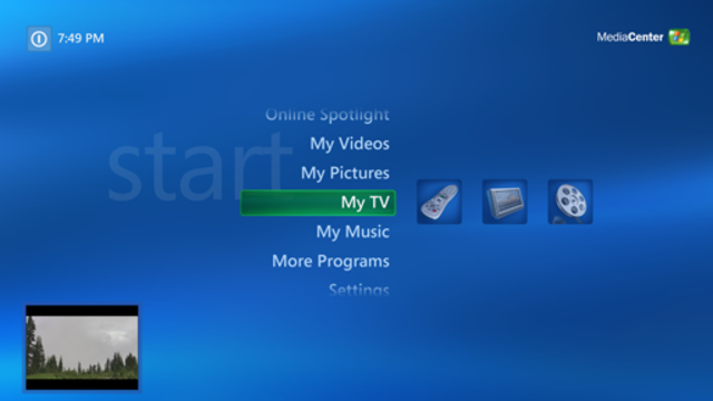Microsoft Windows XP Media Center