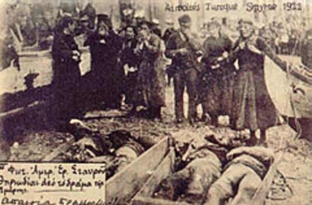 The Turkish Army pillages Smyrna.
