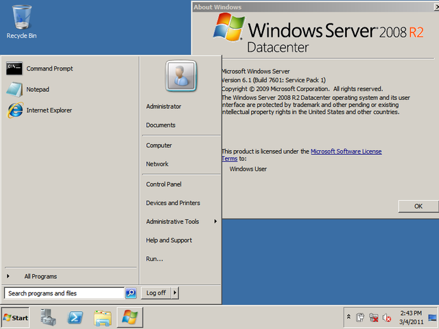Windows Server 2008 R2 is released to the general public