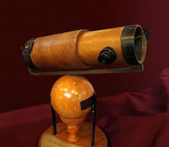 The first reflecting telescope built by Newton
