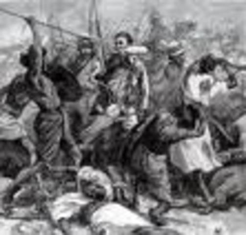 Colonel Frederick Gustavus Burnaby dies in the Battle of Abu Klea