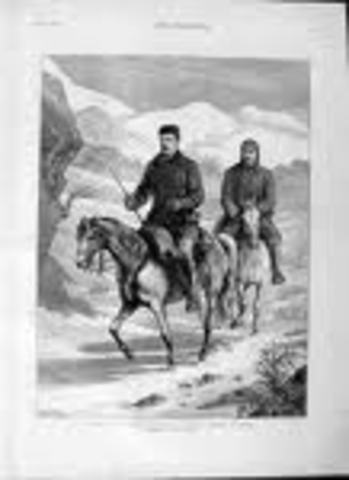 He travelled on horseback 1000 miles eastwards from Constantinople