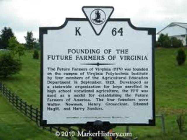 Future Farmers of Virginia formed