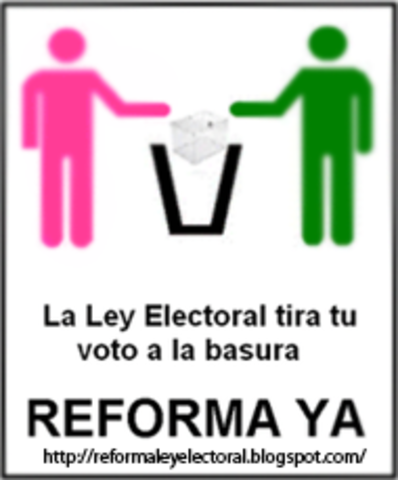 Las reformas electorales efectuadas entre los años de 1989 y 1996