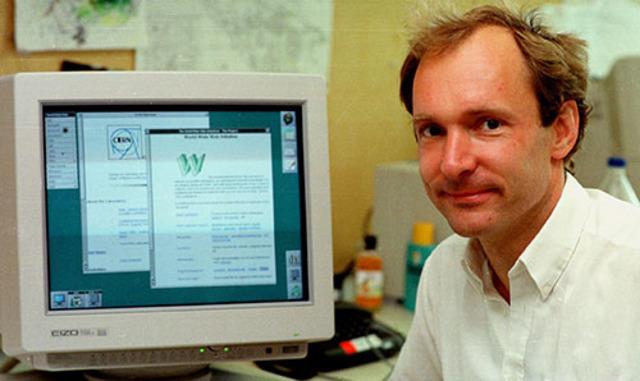 Tim Berners-Lee desenvolveu o primeiro navegador, o WorldWideWeb