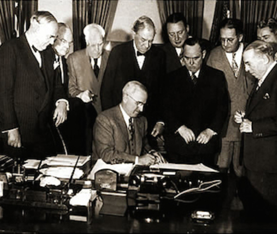Marshall Plan is signed