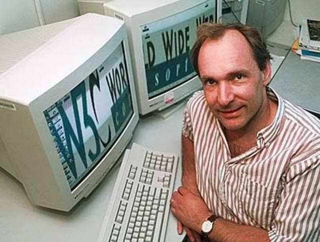 Tim Berners-Lee idealiza a WWW (World Wide Web)