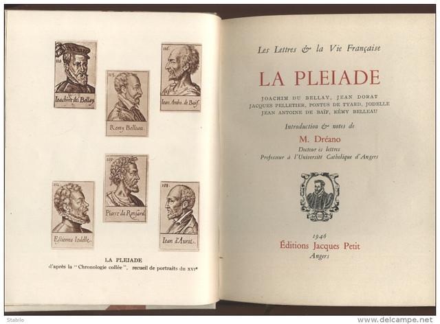 HISTOIRE LITTERAIRE: La Pléiade