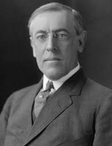 Woodrow Wilson leaves office