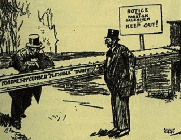 20s Economy- Fordney-McCumber Tariff Law