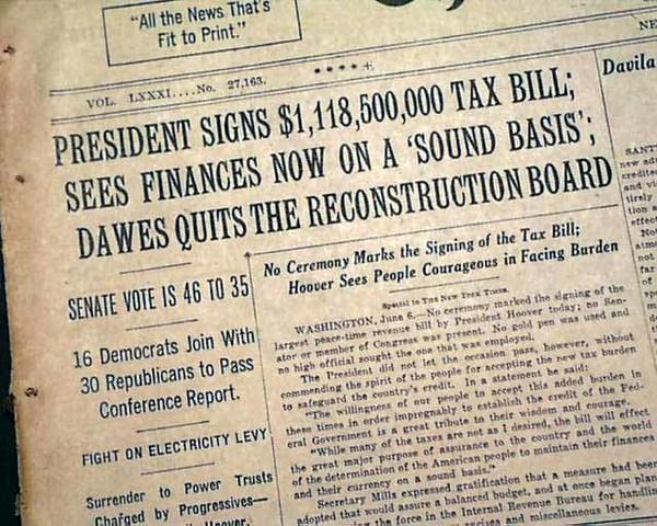 New Deal Program: Revenue Act