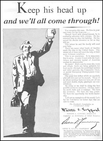 Hoover-  President's Organization on Unemployment Relief