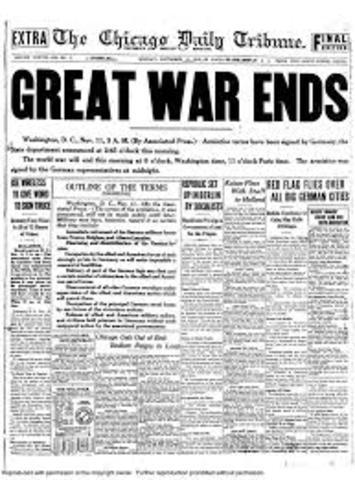 Germany Allies End World War I