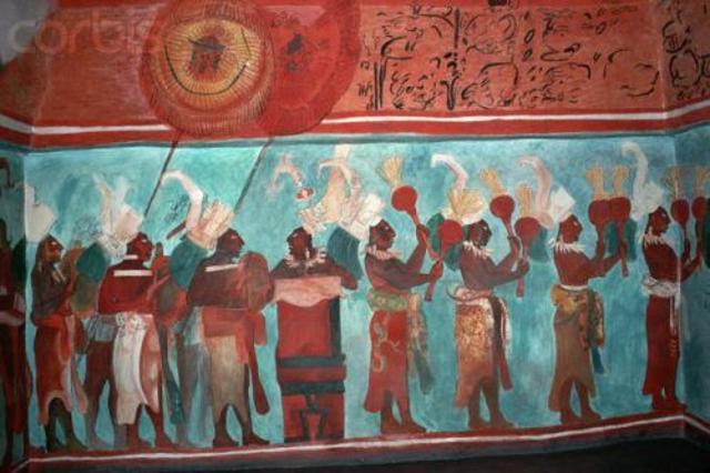 1000 лет до н.э. Голубая краска племен Майя
