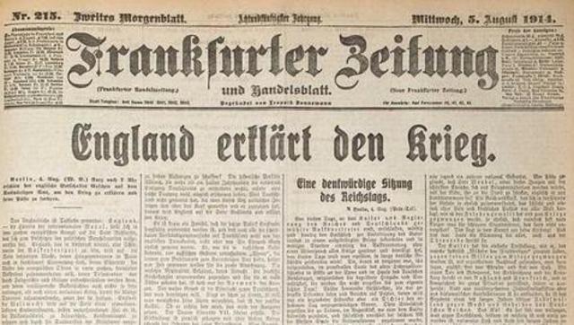 Declaració guerra França i Gran Bretanya a Àustria-Hongria