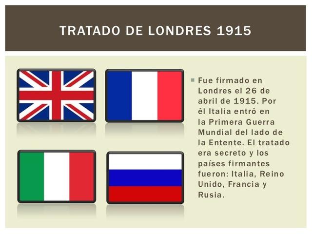 Tractat de Londres/ Itàlia a l'Entesa