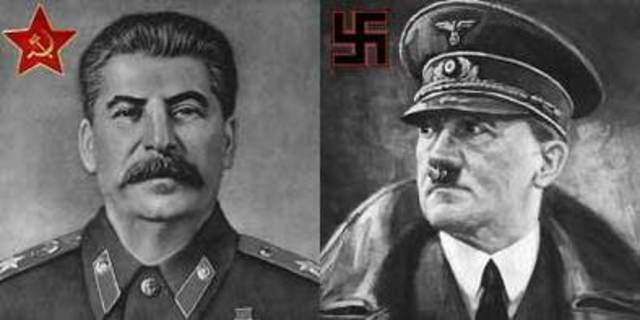 Nazi Germany and Soviet Union sign Non-Aggression Pact