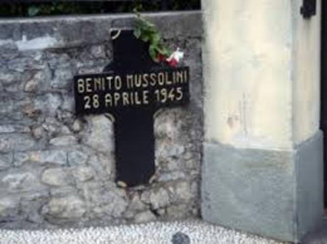 Death of benito mussolini