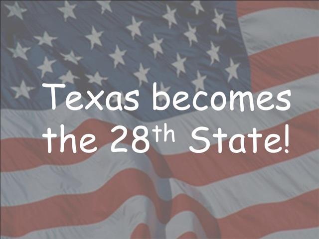 Texas enters United states
