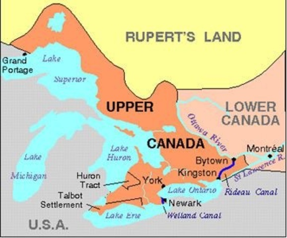 The war in Upper Canada comes to an end