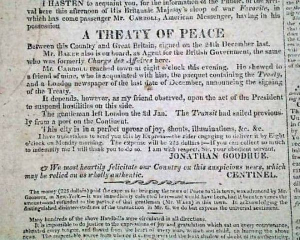 The Peace Treaty of Ghent