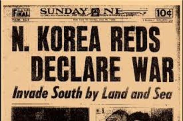 Korea War Begins