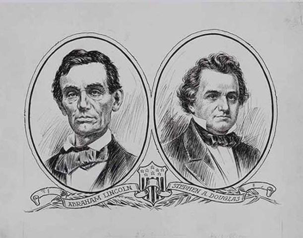 Abraham Lincoln and Stephen Douglas Debate