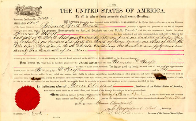 Lincoln signs Homestead Act
