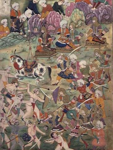 Timur Leads Army and Wins Against Ottoman Army in the Battle of Ankara