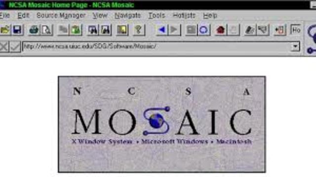 Первый графический сетевой броузер «Мозаик» (Mosaic).