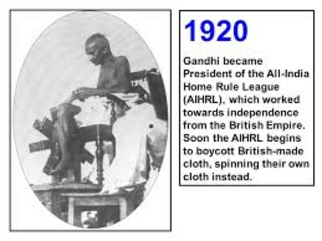 President of All India Home Rule League