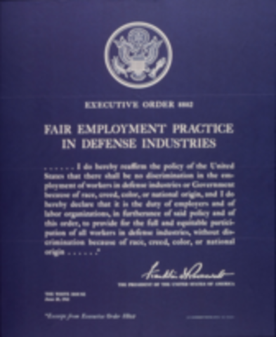 Presdient Roosevelt's Executive Order
