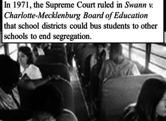 Swann vs. Charlotte Mecklenberg Board of Education