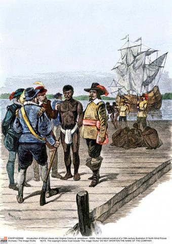 Slave trade begins